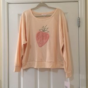 New XXL 18W Lauren Conrad Pink Strawberry Blouse